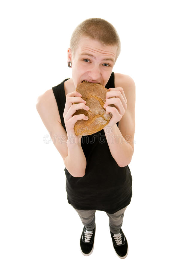 Download Hungry teenager stock photo. Image of isolated, loneliness - 20839064