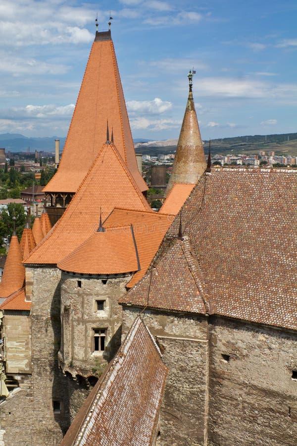 huniad замока стоковые изображения