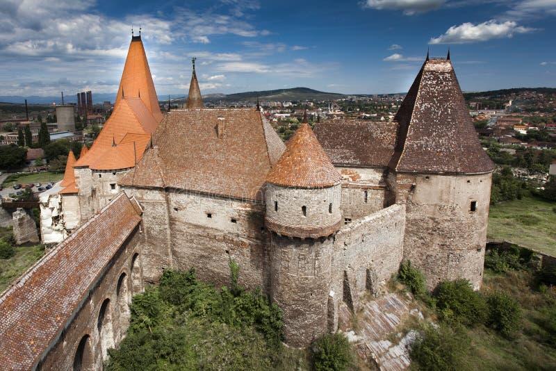 Huniazilor castle stock photography