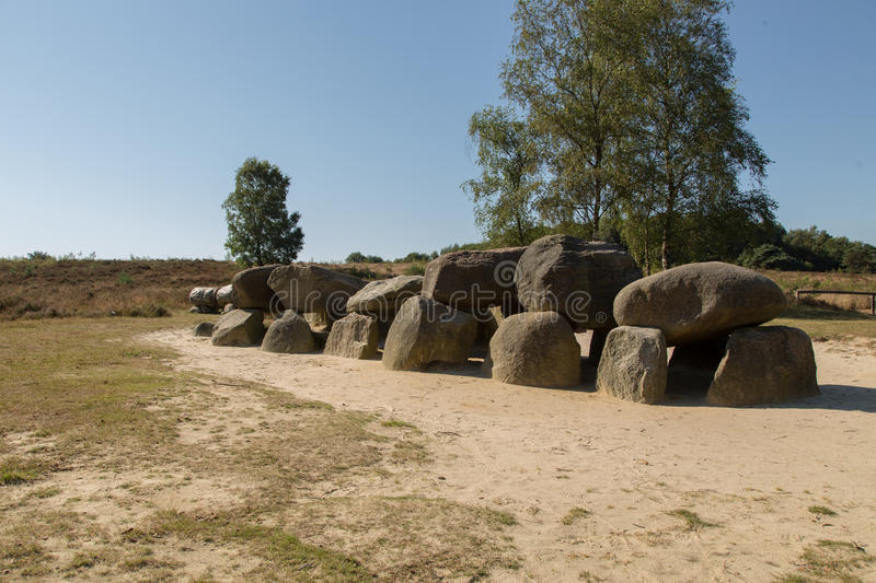 Hunnebed number D53 in Drenthe, The Netherlands stock photos