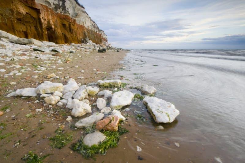 hunstanton βράχοι στοκ φωτογραφία