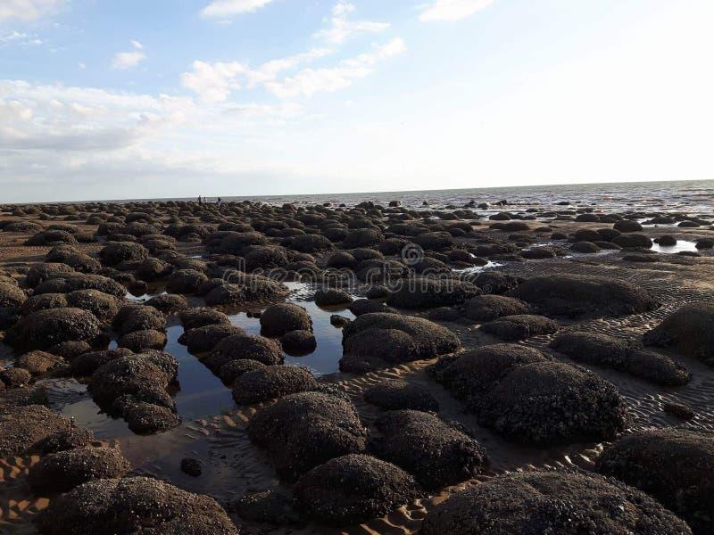Hunstanton-Strand stockfoto