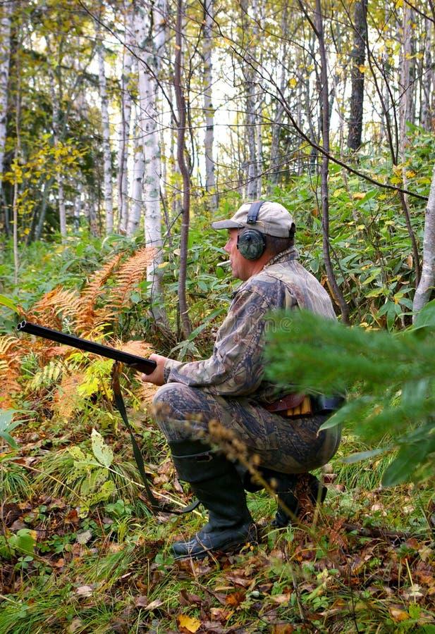 Hunt on hazel hen. royalty free stock images