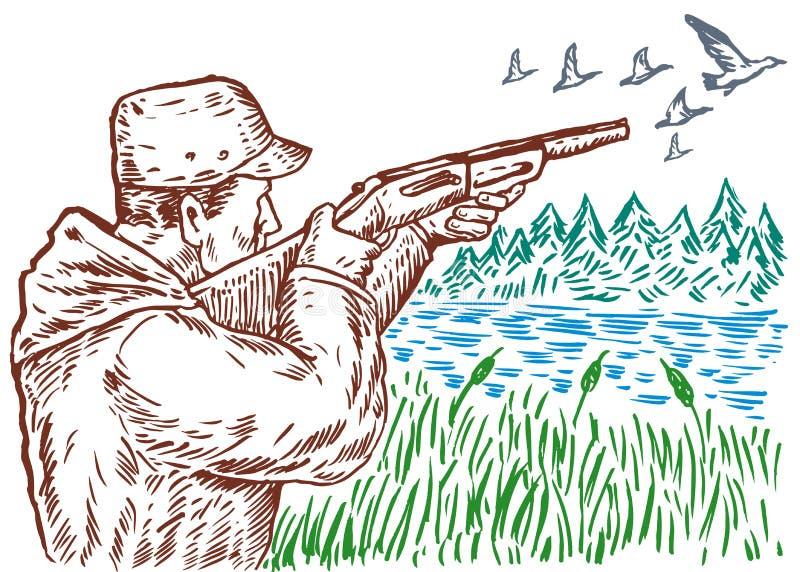 hunter. royalty ilustracja
