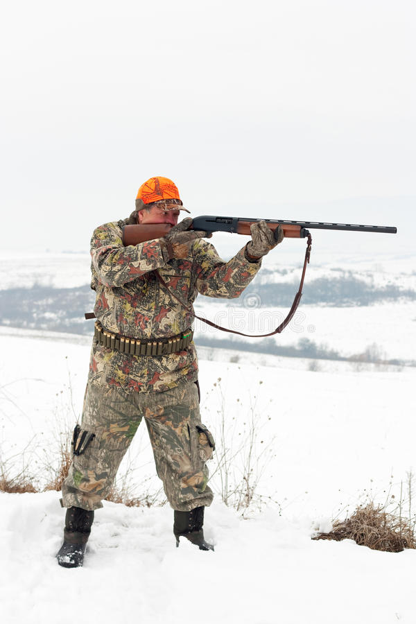 Download Hunter aiming stock photo. Image of outdoors, shooting - 23321130