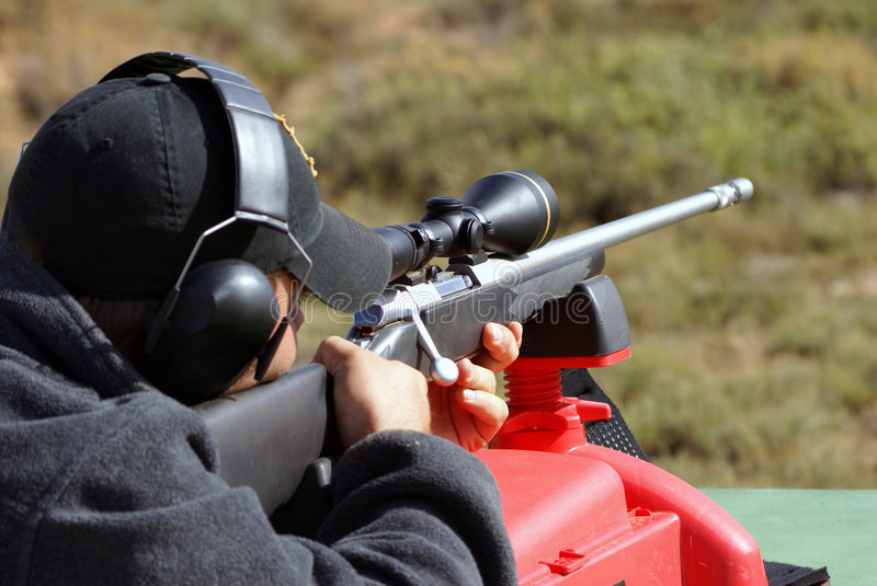 Hunter Aiming stock images