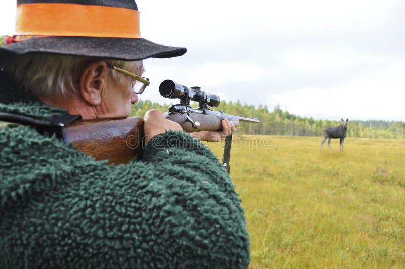 Download Hunter Aiming At Moose Royalty Free Stock Image - Image: 20941266