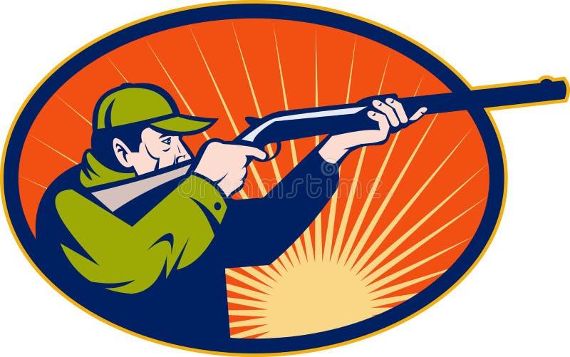 Download Hunter Aiming Rifle Shotgun Stock Illustration - Image: 14252155