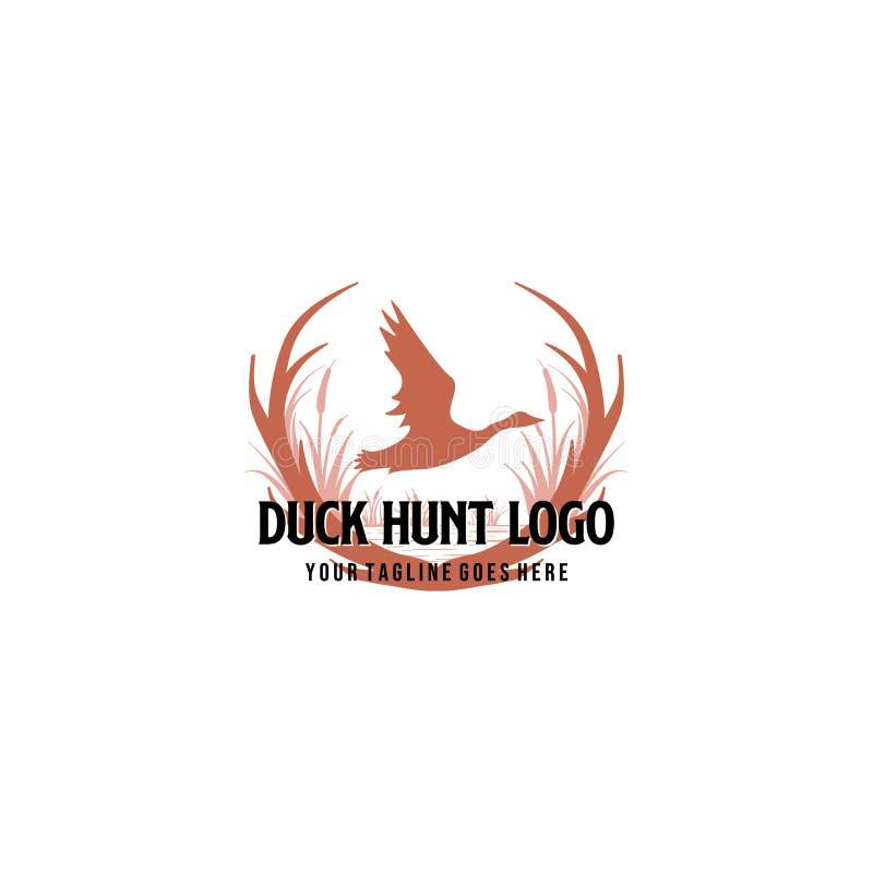 Hunter Club Abstract Vintage Label oder Logo Template mit den Geweihen, den Beschaffenheiten und Retro- Typografie Auch gut für P vektor abbildung