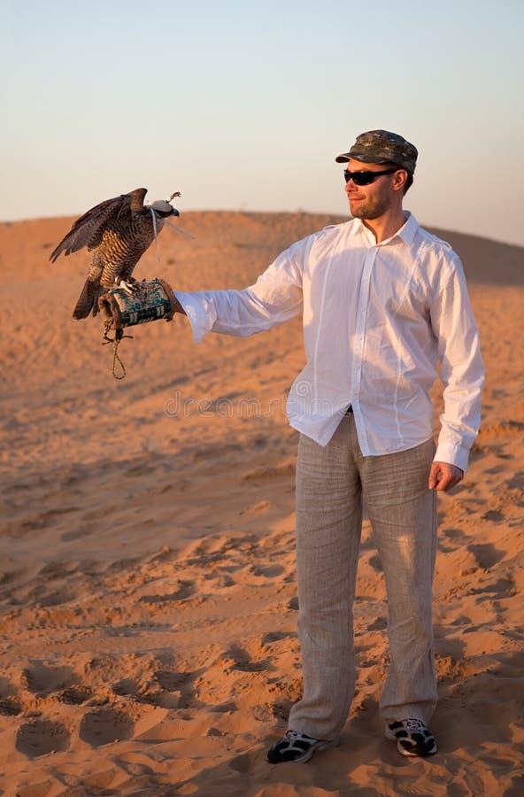 Download Hunter with a falcon stock photo. Image of hunter, falcon - 17244764