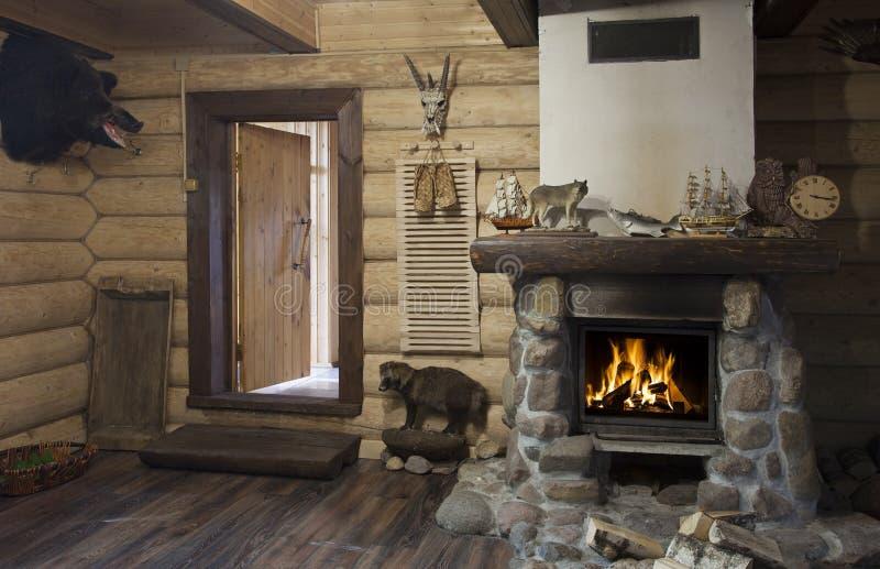 Hunter house interior royalty free stock photo