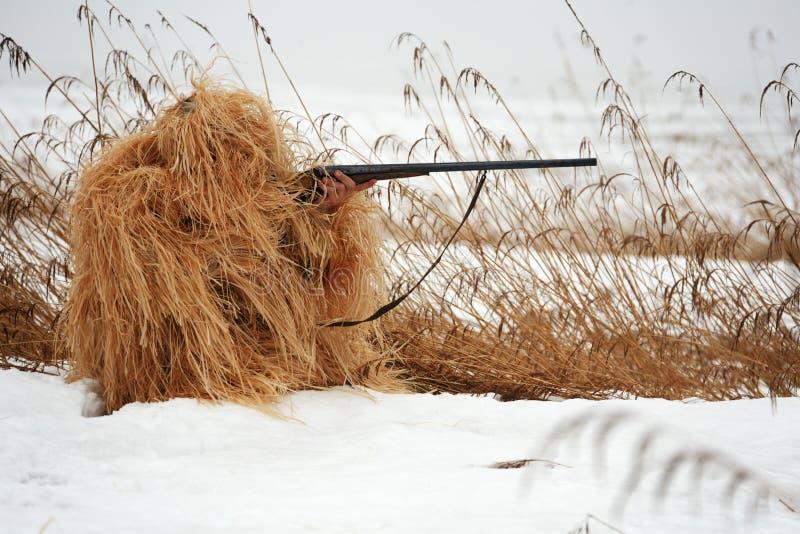 hunter maskować obraz stock