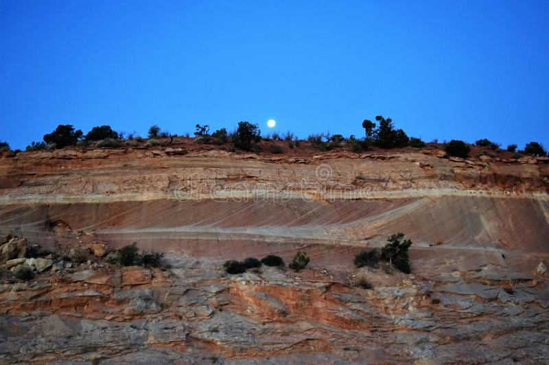 Hunter Moon Markagaunt High PLateau Scenic Byway 14, Utah fotos de stock