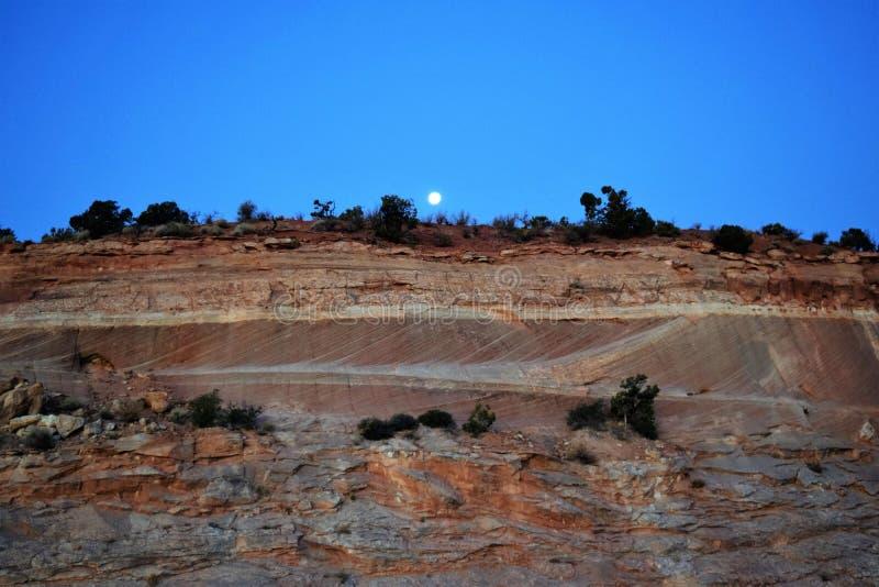 Hunter Moon su Markagaunt High PLateau Scenic Byway 14, Utah fotografie stock