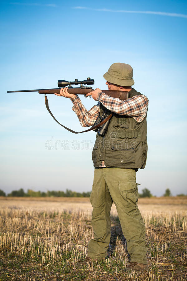 Hunter With Shotgun fotografía de archivo