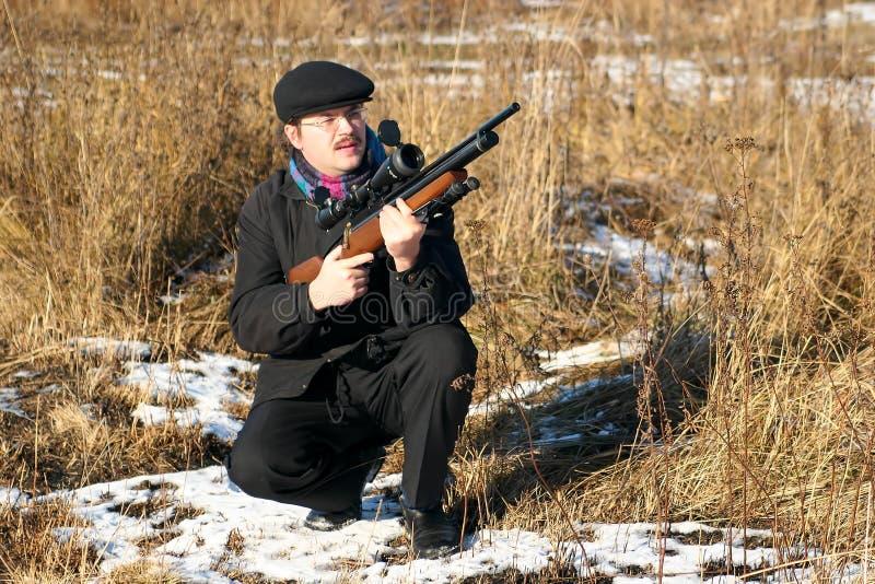 hunter zimy. obrazy stock