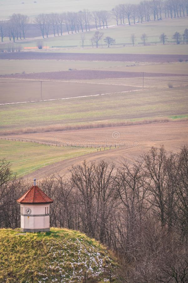 Hunters lookout in Lower Silesia royalty free stock photography