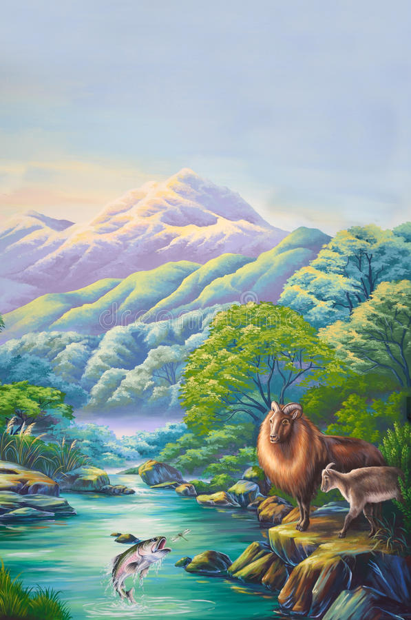 Download Hunters paradise stock illustration. Illustration of painting - 32041029