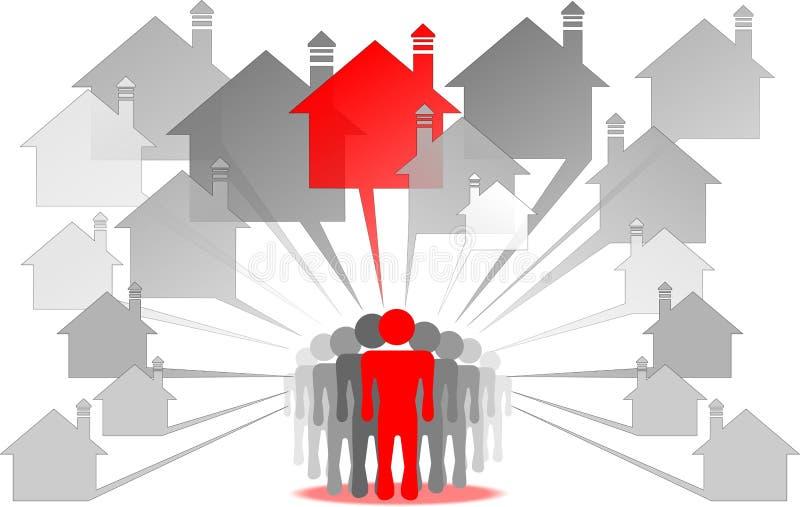 Hunters for real estate vector illustration