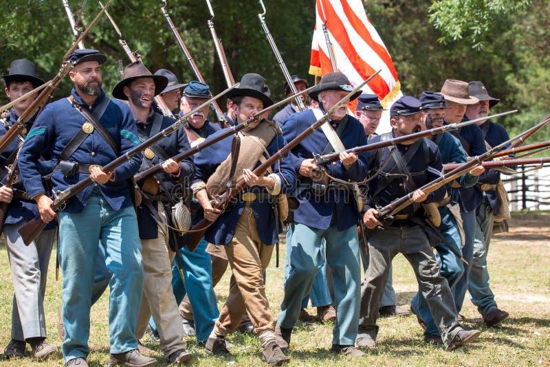 American Civil War Battle Reenactment royalty free stock images