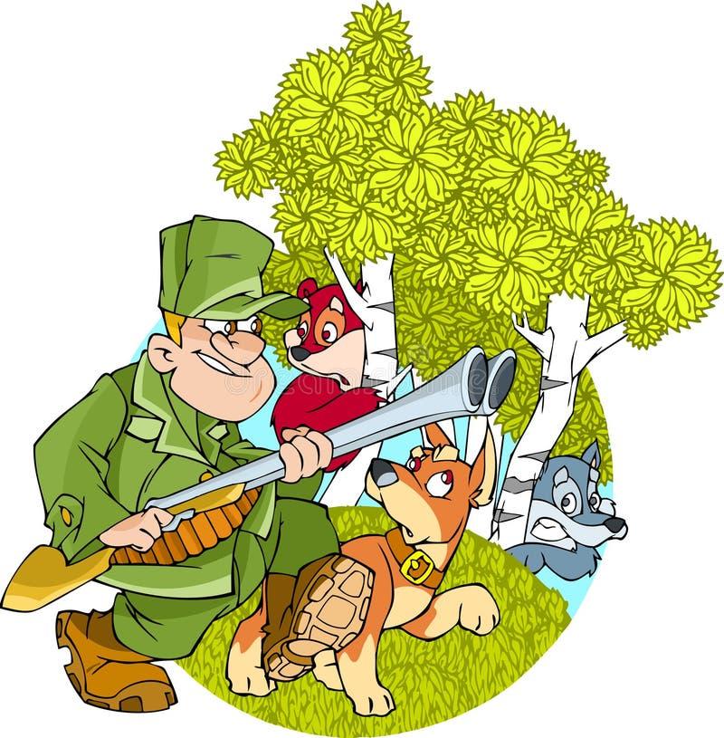 Hunting vector illustration