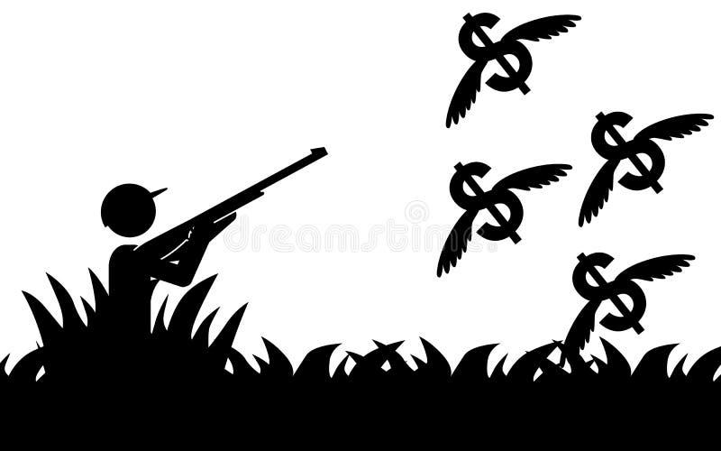 hunting royalty-vrije illustratie