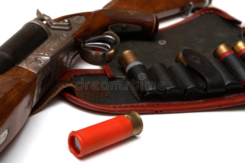 Download Hunting belt and the rifle stock photo. Image of firer - 9408162