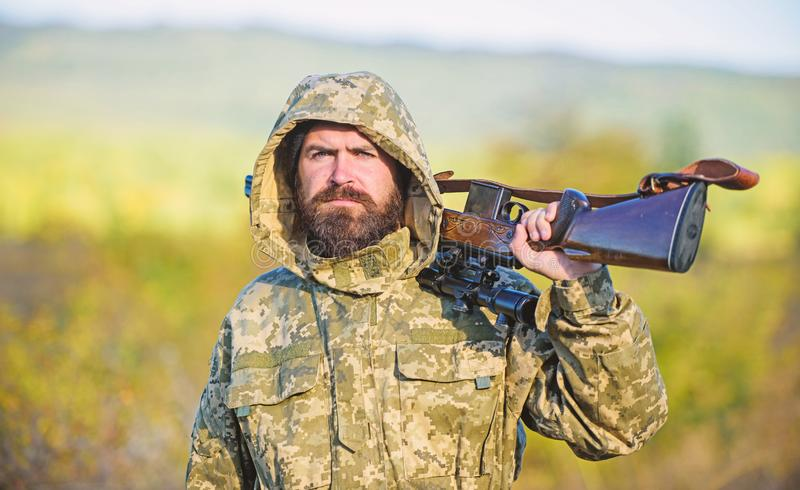 Hunting big game typically requires tag each animal harvested. Experience and practice lends success hunting. Hunting stock photography