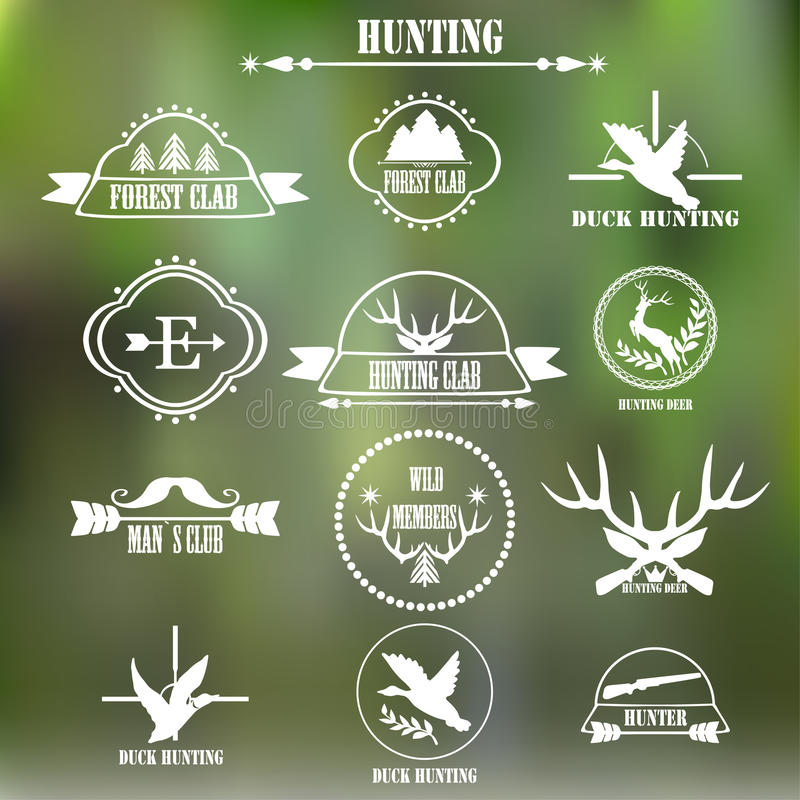 Hunting Club Label Collecton. Elements And Labels Design