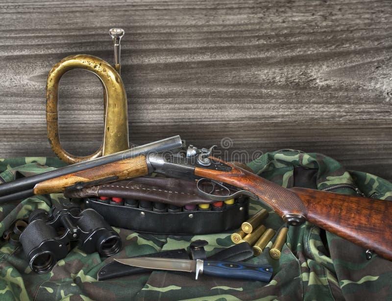 Hunting equipment stock photos