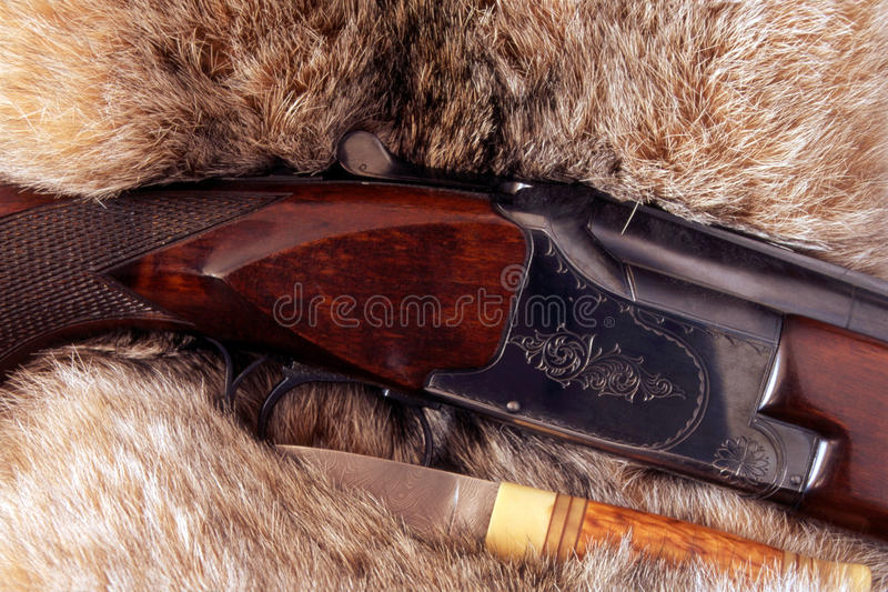 Download Hunting Gun And A Knife Royalty Free Stock Image - Image: 17171146