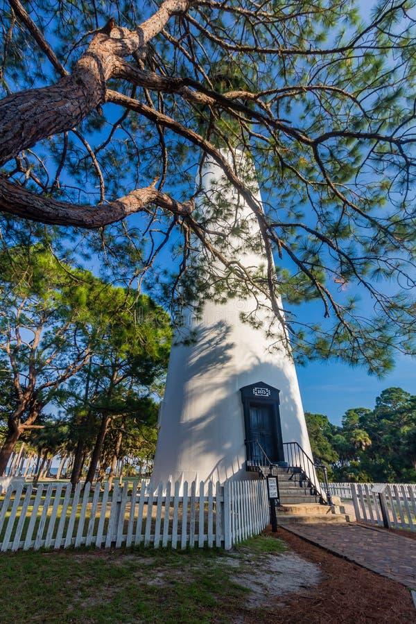 Hunting Island Lighthouse. At Hunting Island State Park on September 9, 2016 in Saint Helena Island, South Carolina royalty free stock photos