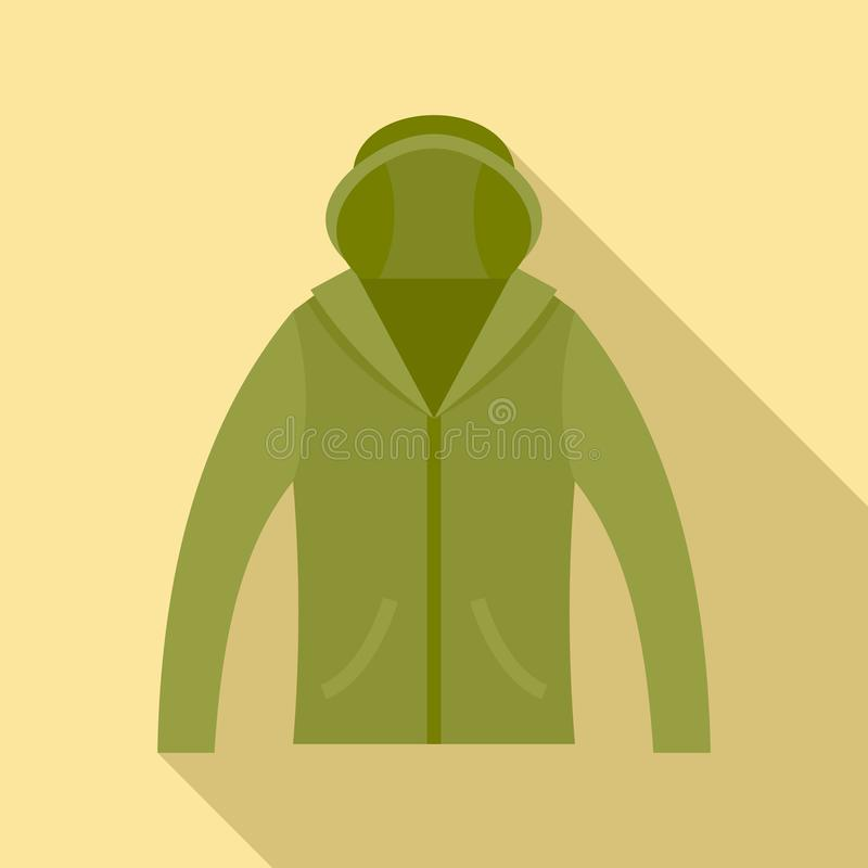 Hunting jacket icon, flat style royalty free illustration