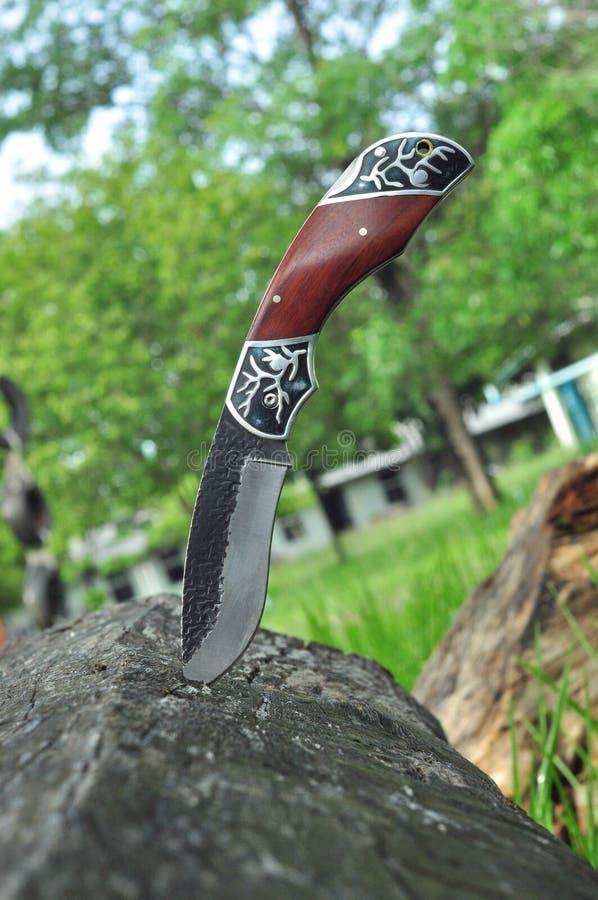 Hunting knife stock photo