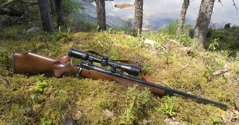 Hunting rifle stock photos