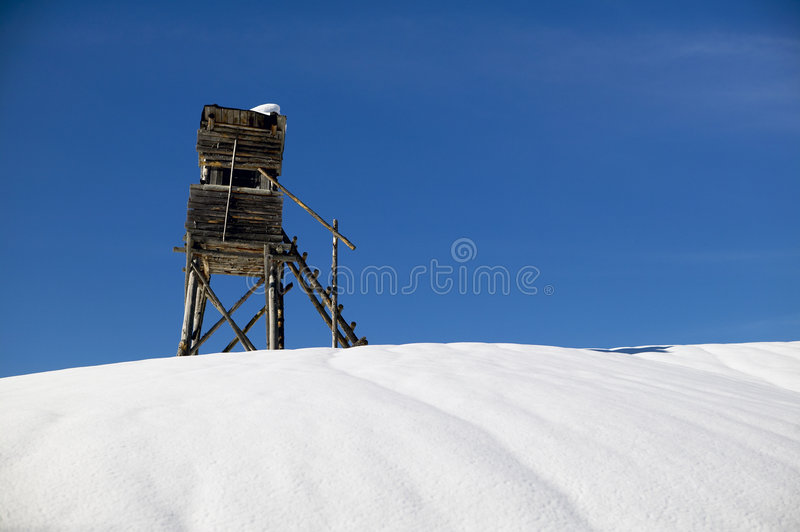 Hunting Stand In Winter Royalty Free Stock Photo