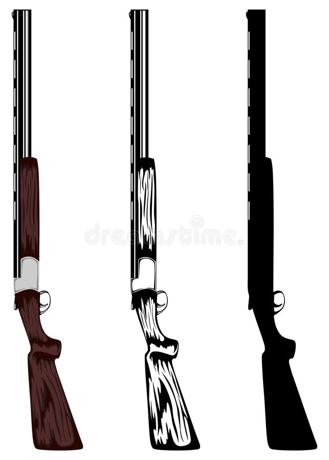Huntings rifle vector illustration