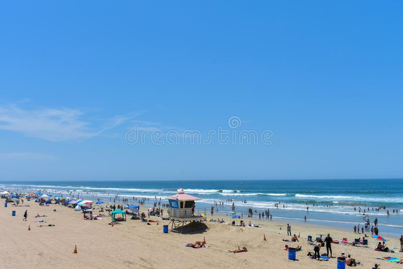 7-8-18 Huntington Beach, Ca un jour ensoleillé photographie stock