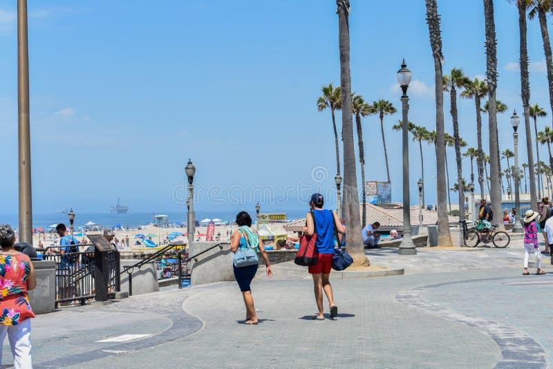 7-8-18 Huntington Beach, Ca un jour ensoleillé photos libres de droits