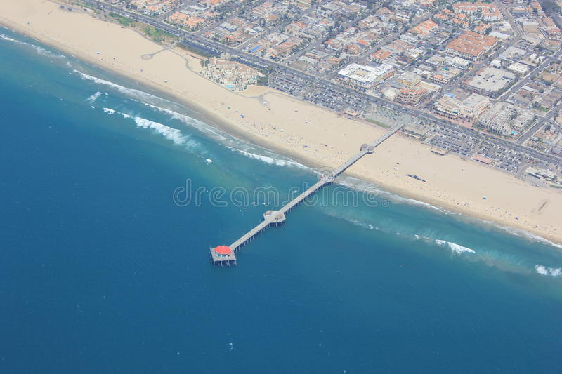 Huntington Beach d'en haut images stock