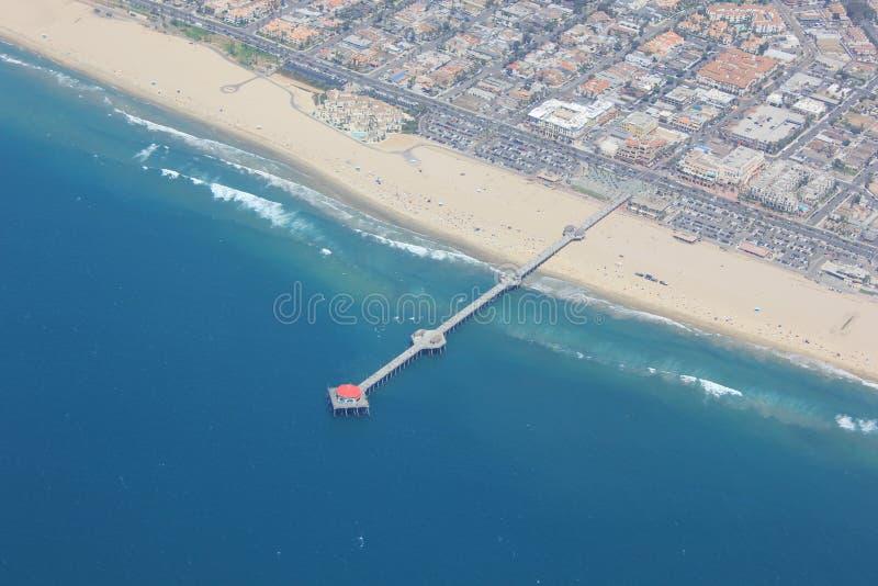 Huntington Beach de cima de imagens de stock