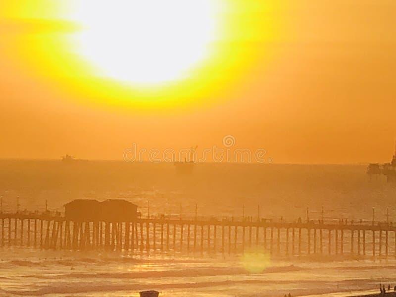Huntington Beach de PCH foto de archivo libre de regalías