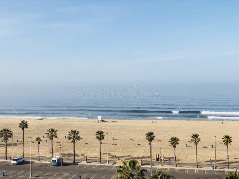 Huntington Beach de PCH fotografía de archivo