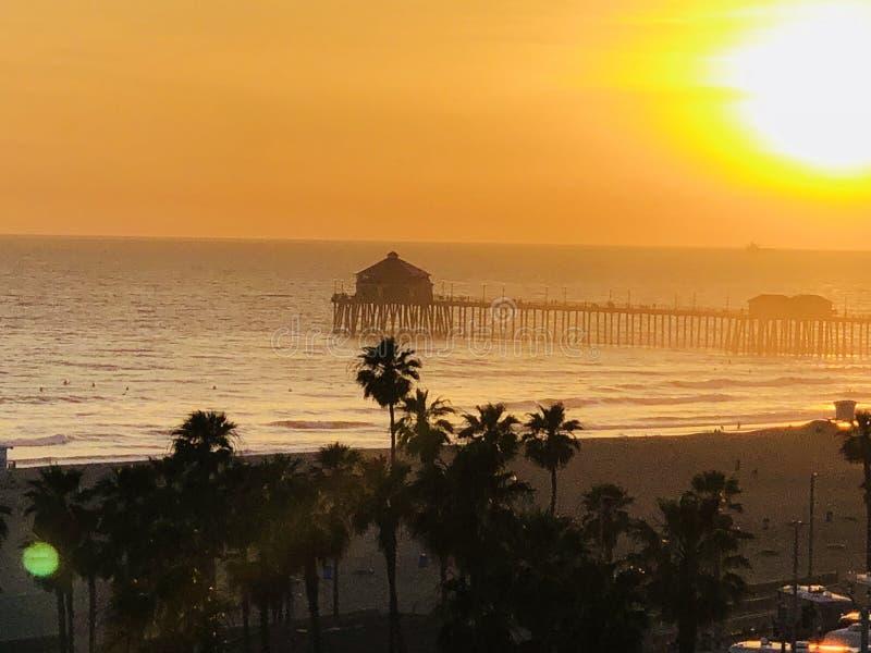 Huntington Beach de PCH fotos de archivo libres de regalías