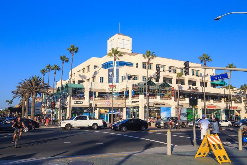 Huntington Beach Kalifornien royaltyfri bild
