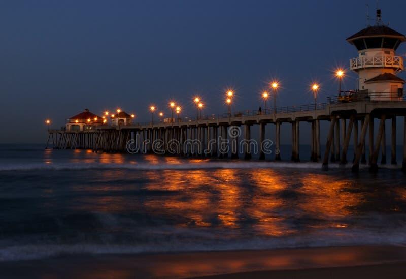 Huntington beach mola wschód słońca zdjęcia royalty free