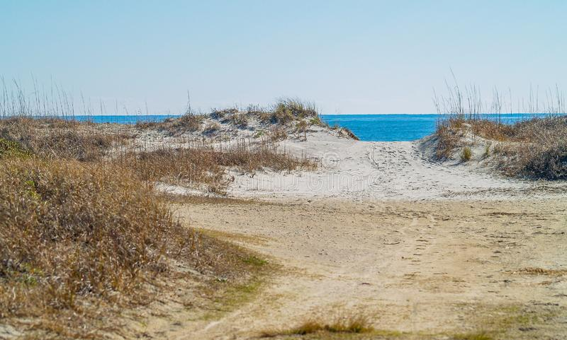 Huntington Beach-Sanddünen lizenzfreies stockfoto