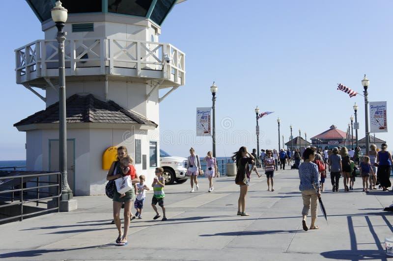 Huntington Beach 4th av Juli beröm royaltyfria bilder