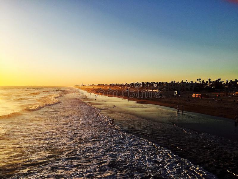 Huntington Beachkust royaltyfria bilder