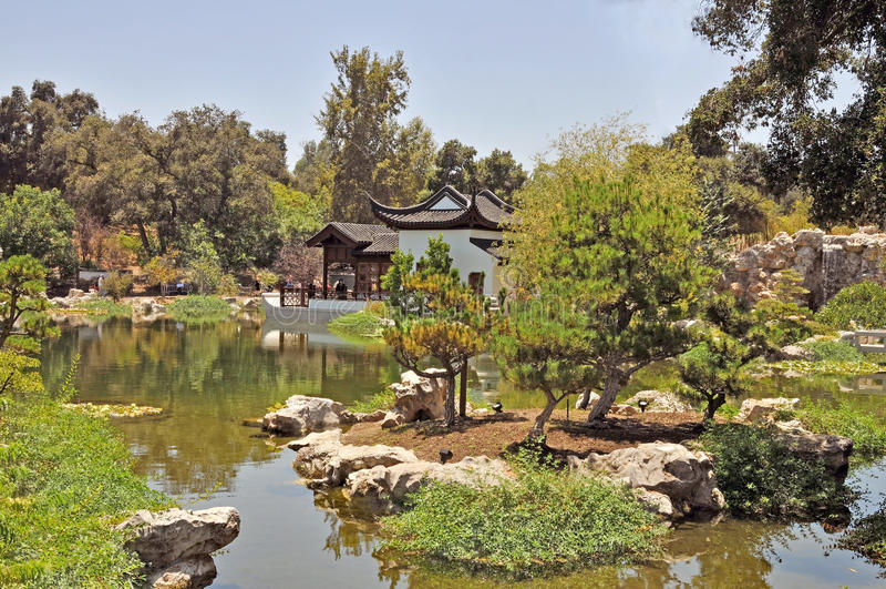 Huntington muzeum: Chińczyka ogród fotografia stock